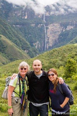 Day 39-Karen,Ega,Pamela, Gocta Falls_