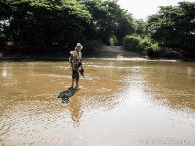 Day 26-Karen Fording the Rio Leche