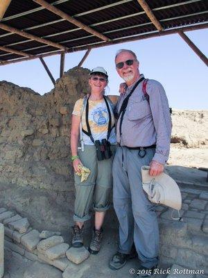 Day 26-Rick and Karen at Huaca Ventana