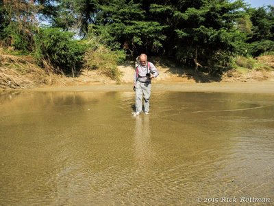 Day 26-Rick Fording the Rio Leche