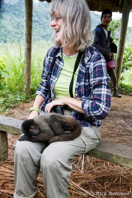 Karen and baby Howler