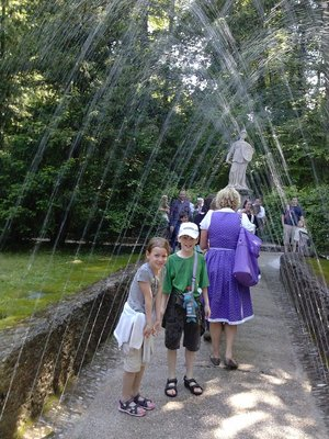 At Hellbrunn Trick Water Fountains