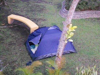 my tent...
