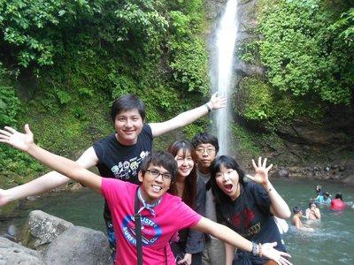 Group shot at the Busay Falls