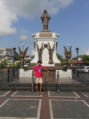 The Statue at the Church of Tabaco City