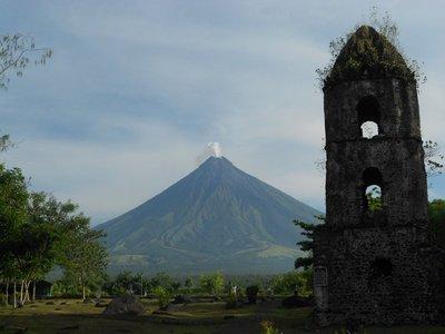 The historic Cagsawa Ruins