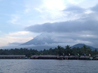 a boat ride at the Albay Gulf