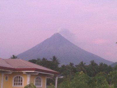 The Mayon Volcano at Sunrise
