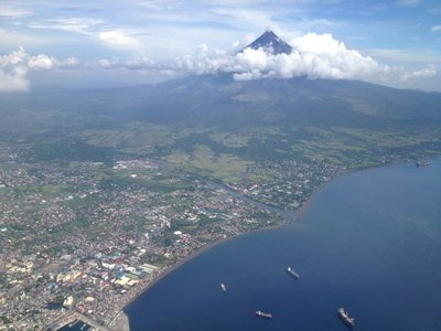 Aerial view of the Mayon Volcano