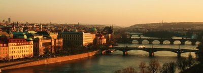 Prague at sunset