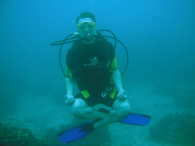 Unterwasser Yoga