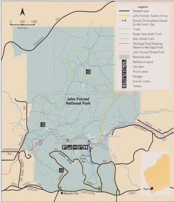John Forrest National Park Map