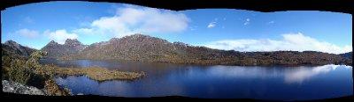 Dove lake, Cradle mountain panorama