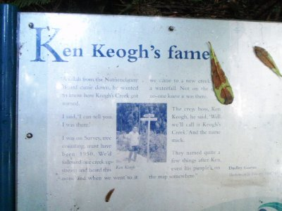 Keogh's Creek name history