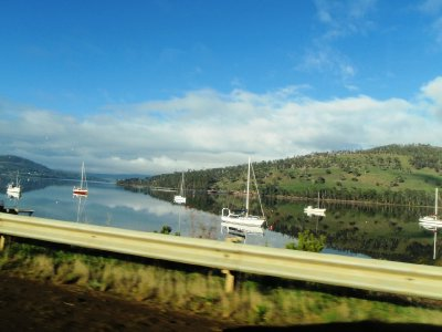 Boats on the Huon River