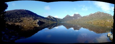 Dove lake, Cradle mountain panorama