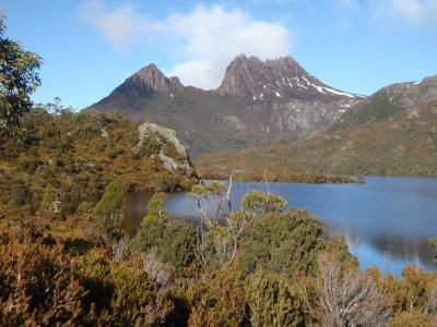 Dove lake, glacier rock, Cradle Mountain