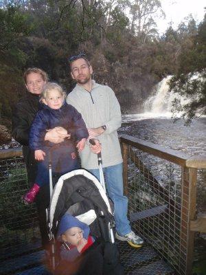 Hehir family and Pencil Pine falls
