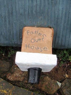 Fallen over house