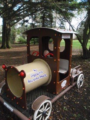 Bouncy chocolate truck