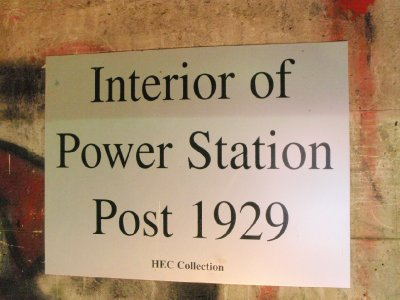 Power station photo sign 1929