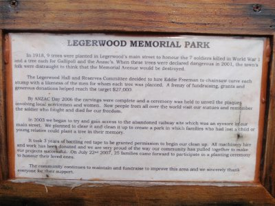 Legerwood Memorial Park