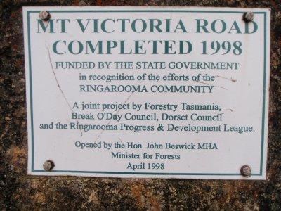 Mt Victoria Road Tasmania