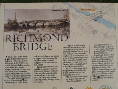 Historic Richmond Bridge sign