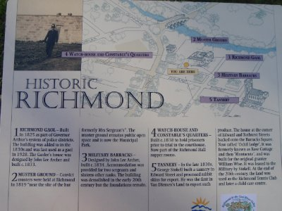 Historic Richmond Gaol sign