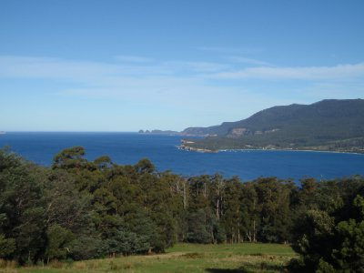 View across Eaglehawk Neck