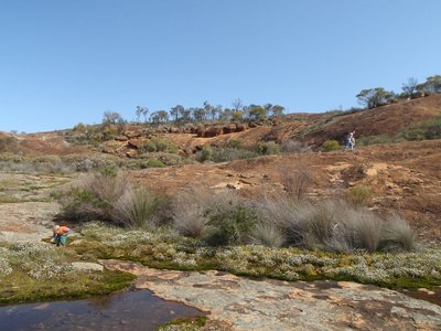 Rock pool atop the Humps