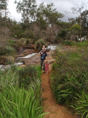 Track to cascades above Lesmurdie Falls