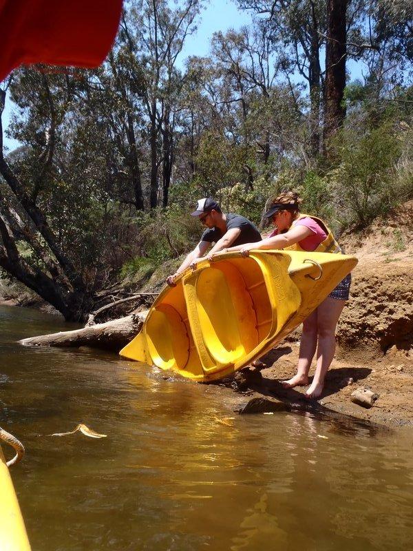Leaky canoe...