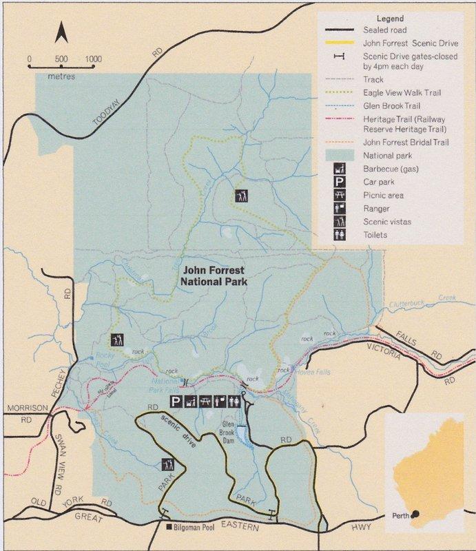 John Forrest National Park Map