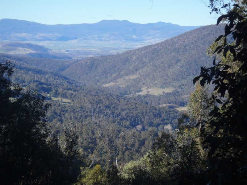 View from first lookout on Lake Dobson Road