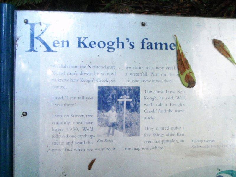 Keogh's Creek name history