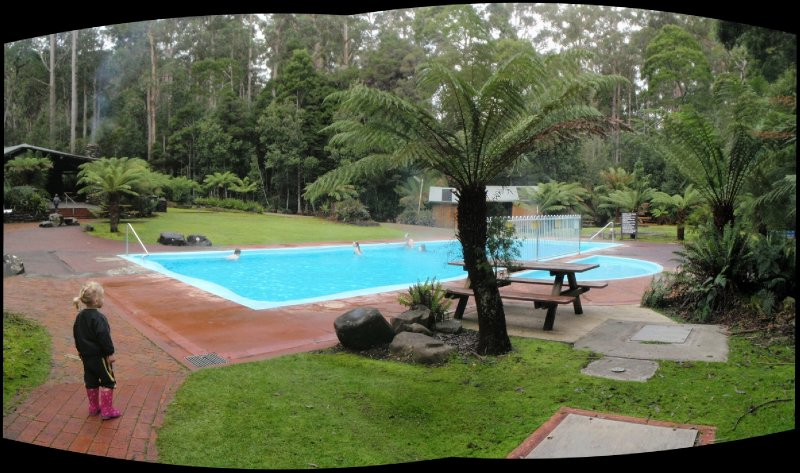 Thermal springs pool panorama