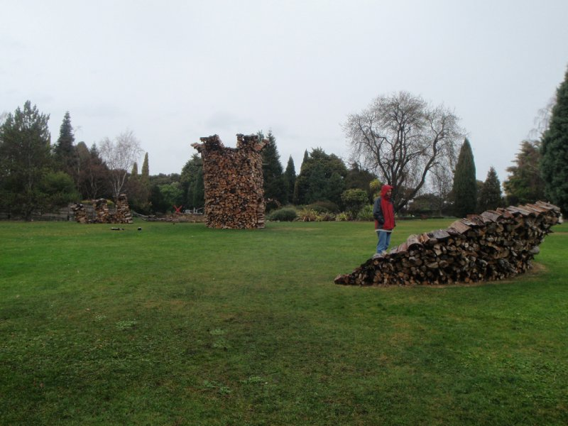 Castle ruins sculpture, Royal Tasmanian Botanical Gardens