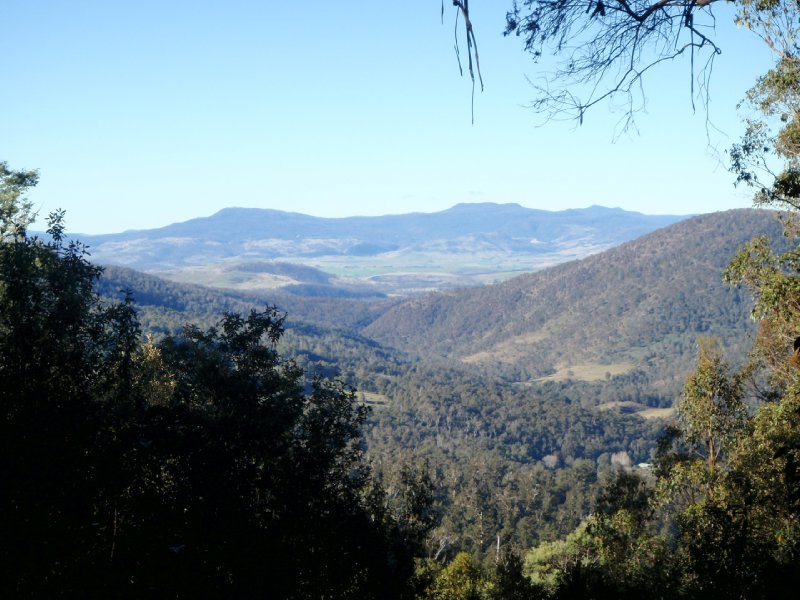 View from first lookout on Lake Dobson Rd