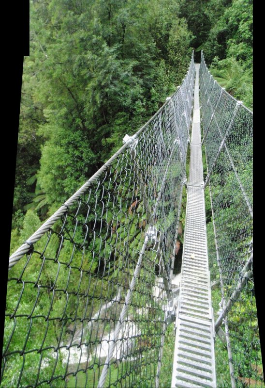 Montezuma falls suspension bridge