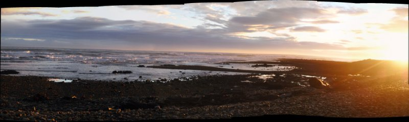 Devonport beach sunrise panorama
