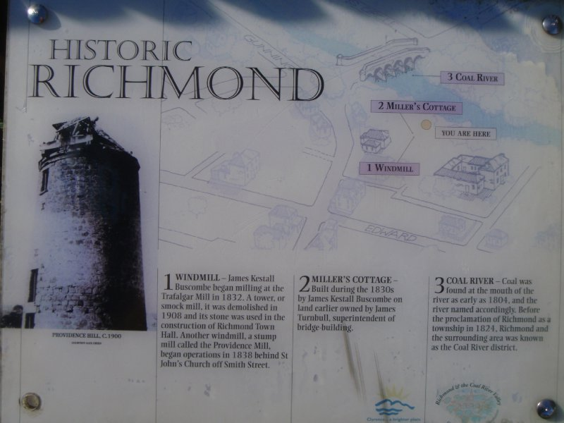 Historic Richmond windmill sign