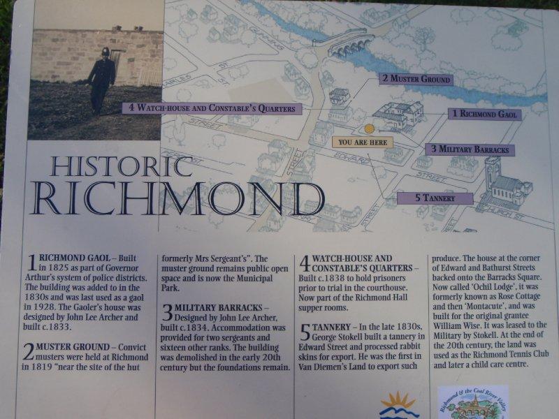 Historic Richmond Gaol sign