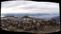 Panoramic view from the top of Mt Wellington view