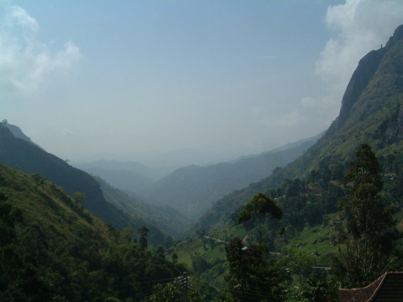 View of valleys from Bandarawela