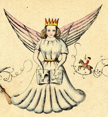 The Christkind - Small blond child with wings that brings gifts on Chrtistmas eve