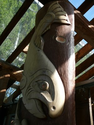 Pole Whale Carving