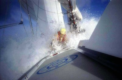 "Crew on Board ""Heath Insured"" on the 1992-93 British Steel Challenge Round the World Yacht Race"
