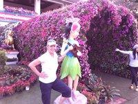 Carole et la fée clochette au Parc Tung
