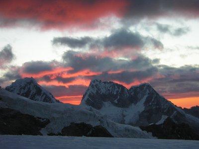 cordillera blanca sunset